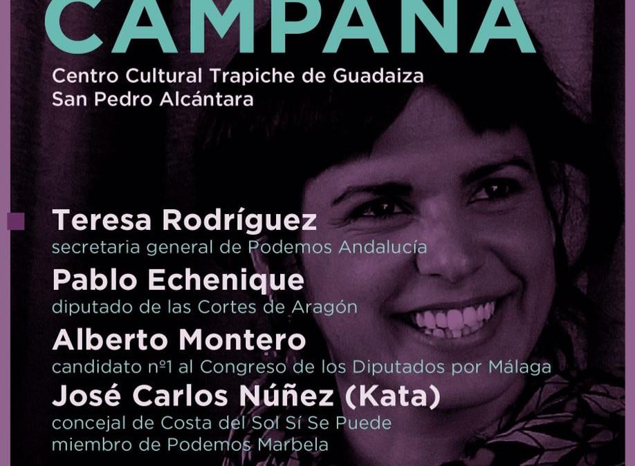 Teresa Rodríguez y Pablo Echenique en Marbella -San Pedro – Actualizada con vídeo del Acto
