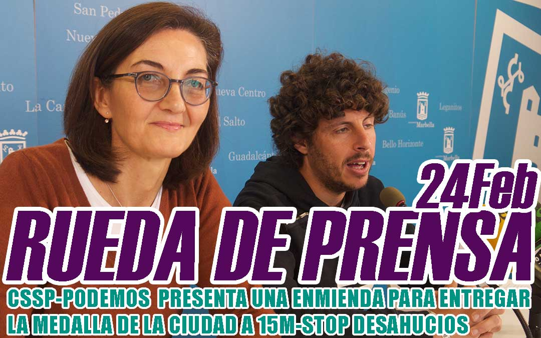 CSSP-PODEMOS  PRESENTA UNA ENMIENDA PARA ENTREGAR LA MEDALLA DE LA CIUDAD A 15M-STOP DESAHUCIOS