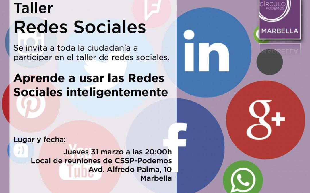 Taller de Redes Sociales: Aprende a usar las Redes Sociales Inteligentemente