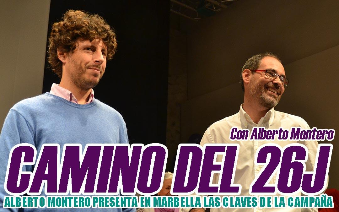 El diputado Alberto Montero presenta las claves de la campaña en Marbella.