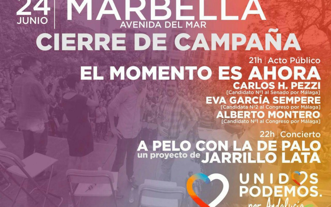 Acto de cierre de campaña electoral de UNIDOS PODEMOS por Andalucía en la provincia de Málaga