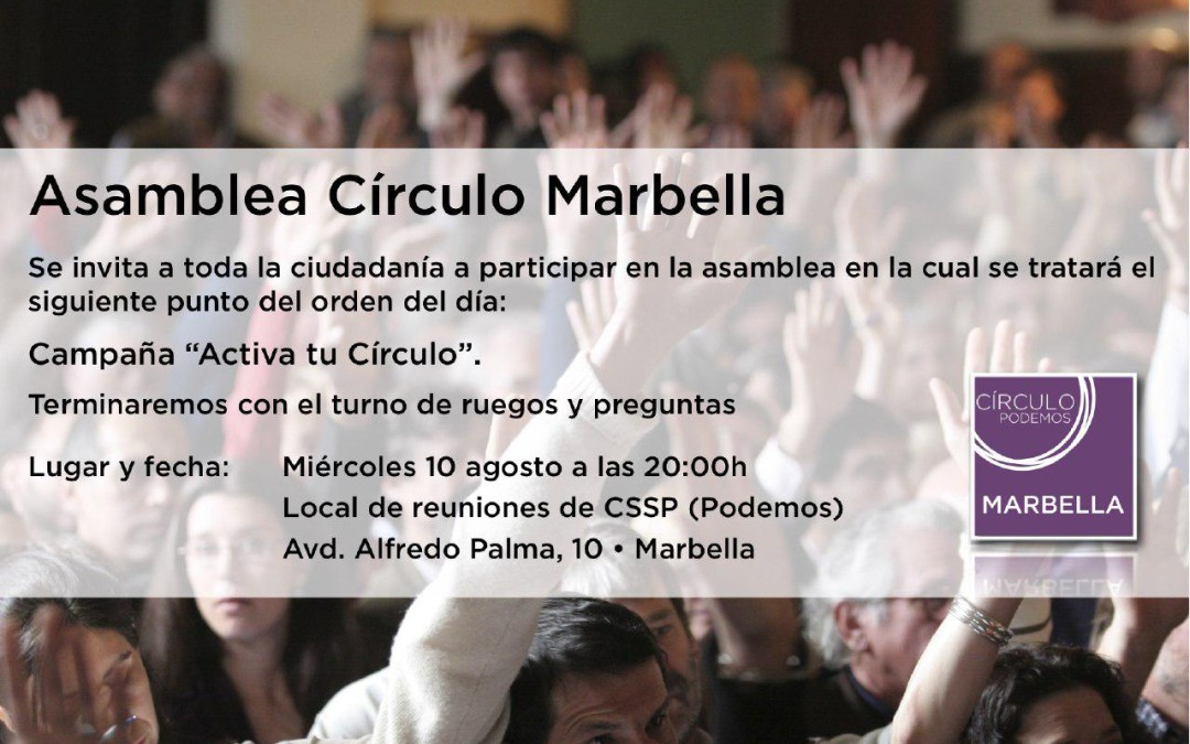 Asamblea Círculo  Podemos San Pedro 14 de Julio 2016