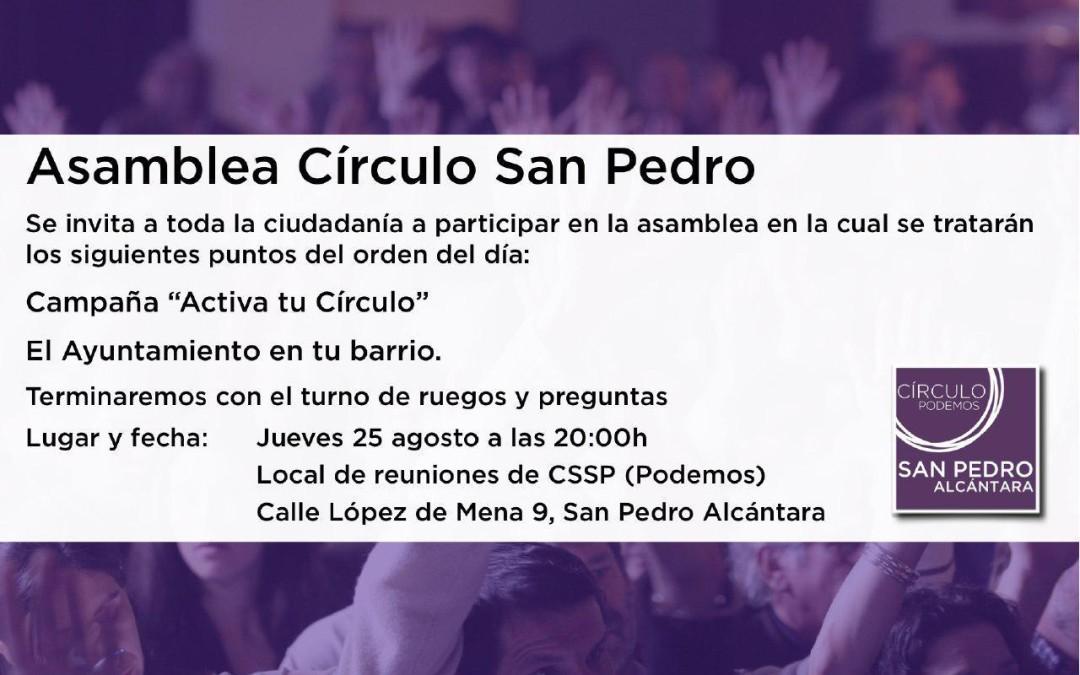 Asamblea Círculo San Pedro 25 de Agosto 2016