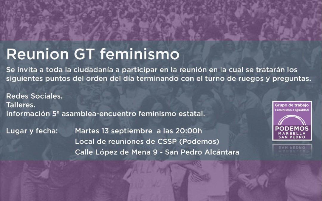 Reunión Grupo trabajo feminismo