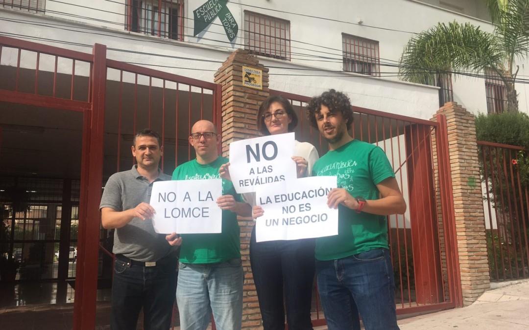 PODEMOS Marbella – San Pedro apoya la Huelga General en Educación del 26-O contra la implantación de la LOMCE