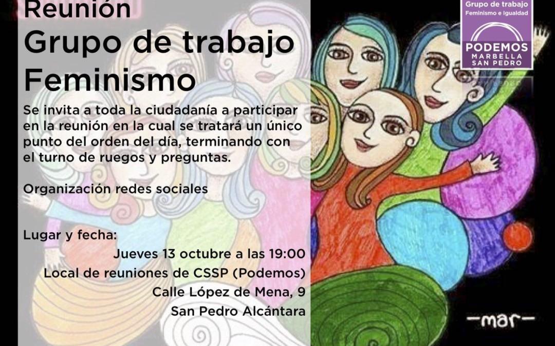 Reunión grupo de trabajo feminismo