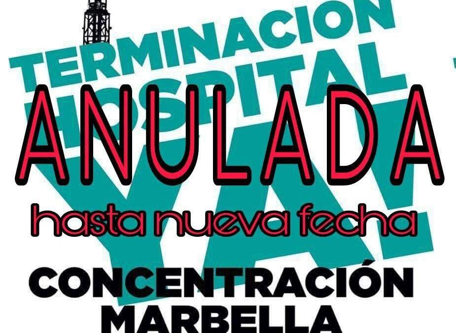 CONCENTRACION HOSPITAL COMARCAL YA, CANCELADA  ( HASTA NUEVA FECHA )