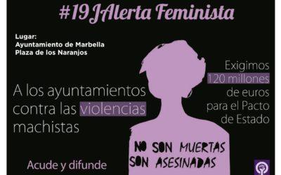 Concentración contra las violencias machistas en Marbella.