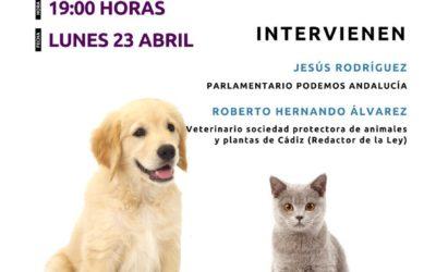 Colectivos animalistas de Marbella presentan junto a Podemos la propuesta de Ley de Protección Animal.