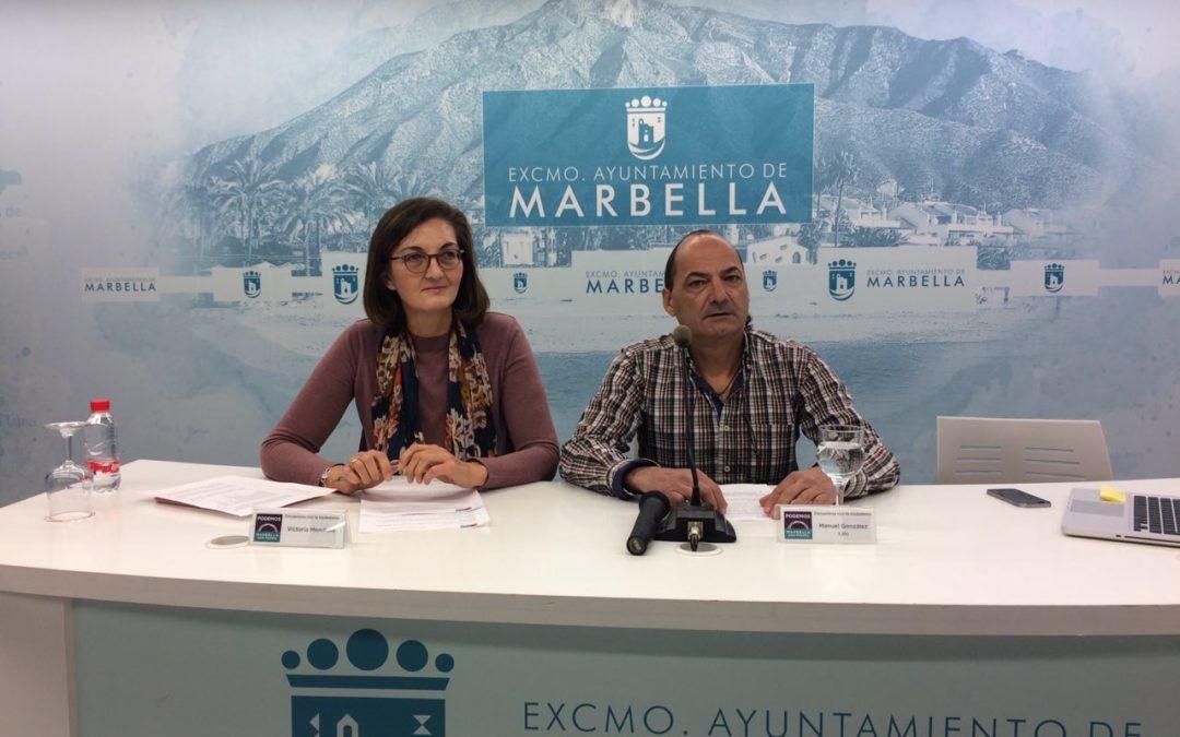 Podemos enmienda el presupuesto municipal de Marbella para 2018.