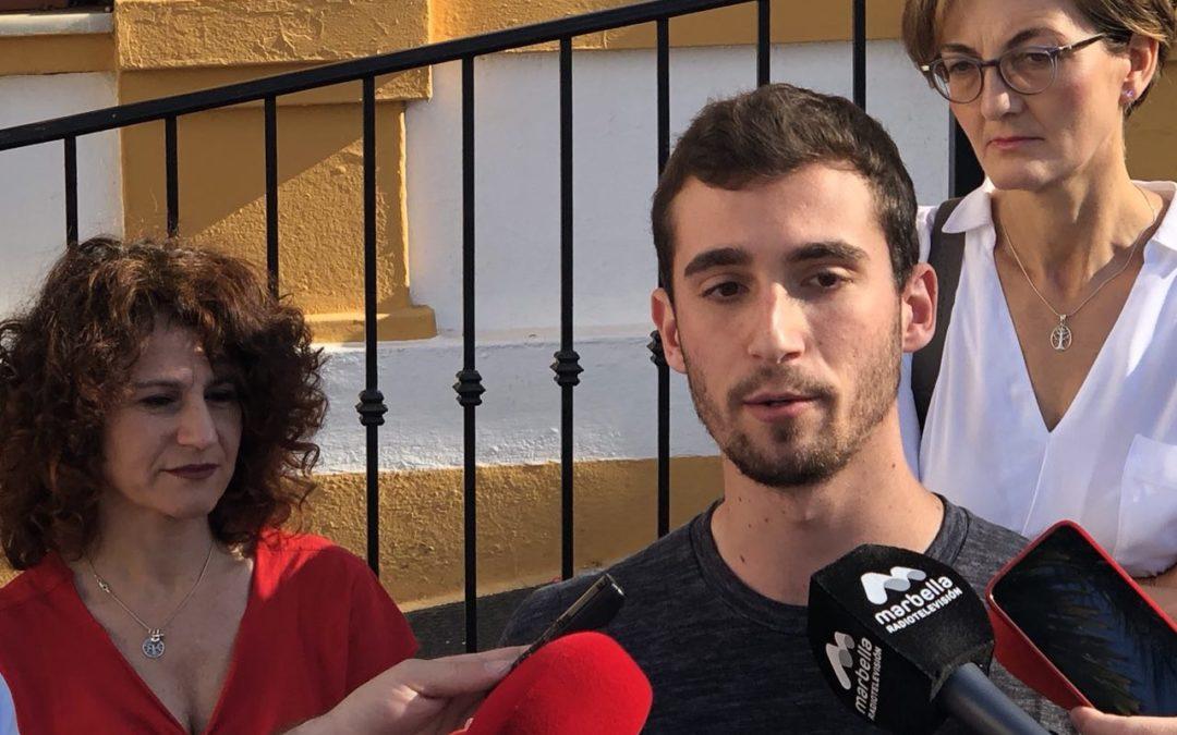 Podemos lleva al pleno de Marbella las exigencias del Sindicato de Estudiantes.