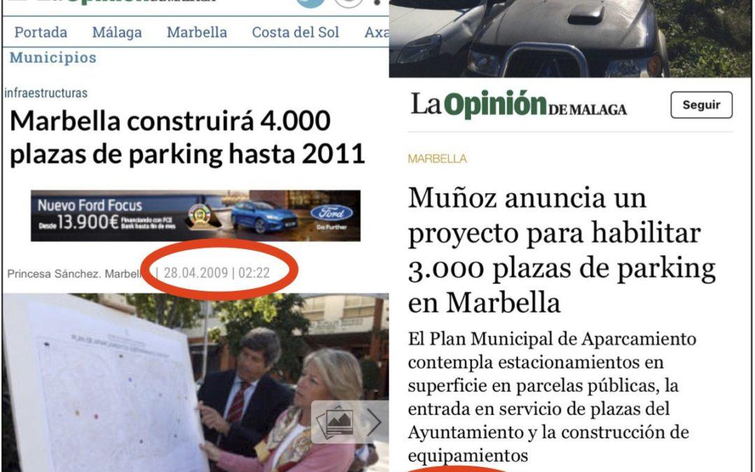 Podemos considera electoralista y tramposo el plan de aparcamientos presentado por Ángeles Muñoz