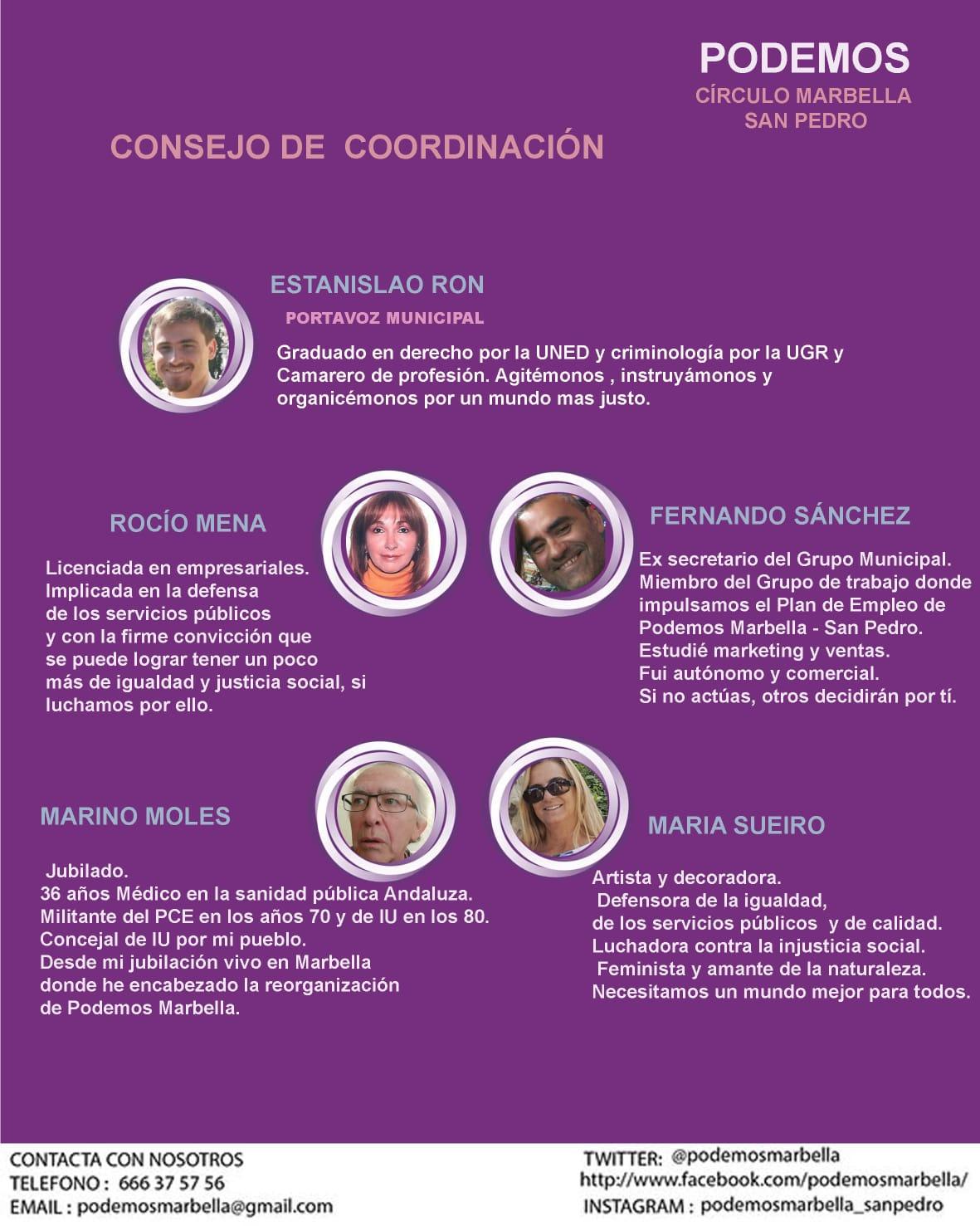 Estanislao Ron nuevo portavoz de Podemos en Marbella y San Pedro