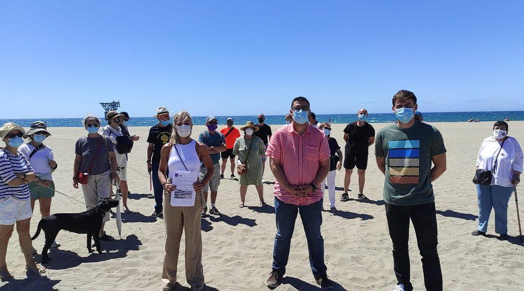 Unidas Podemos reitera al ayuntamiento de Marbella su exigencia para la apertura de la zona de moragas en El Cable tras la recogida de firmas de ciudadanía y colectivos